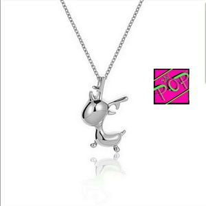 Jewelry - Adorable sterling silver reindeer necklace